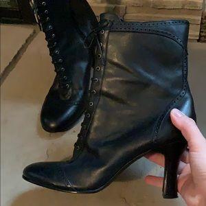 Apostrophe black lace up boots
